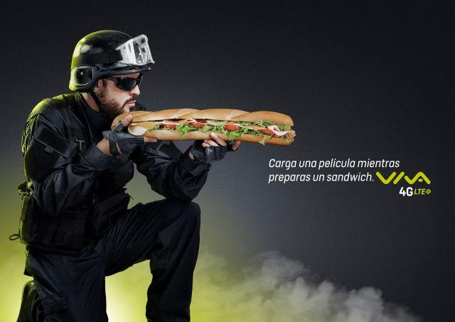 """Sandwich"" para Viva 4G LTE"